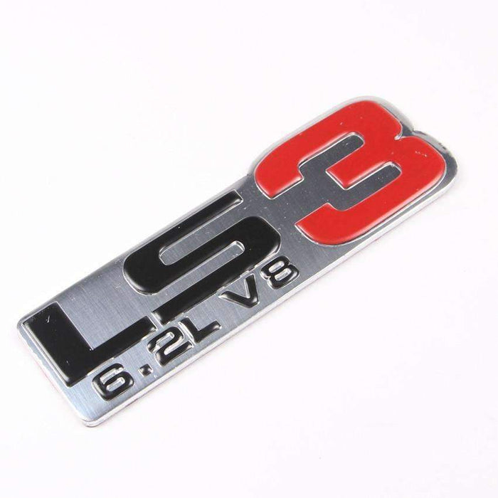 CHEVROLET Aluminum LS3 6.2L V8 Badge for Chevrolet Emblems Stickers