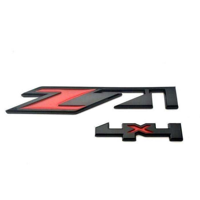 CHEVROLET Black&Red Z71 4x4 Emblem for Chevrolet Emblems Stickers