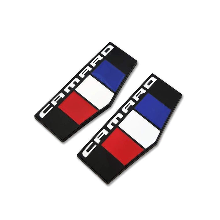2 pcs Camaro France Flag Emblem for Chevrolet