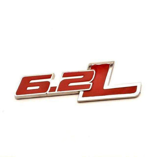CHEVROLET Red 6.2L Emblem for Chevrolet Camaro Emblems Stickers