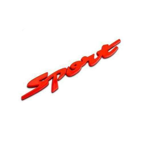Red Sport Emblem for Chevrolet