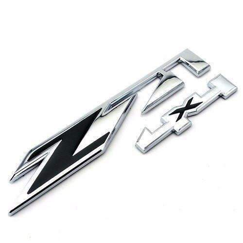 CHEVROLET Silver&Black Z71 4x4 Emblem for Chevrolet Emblems Stickers