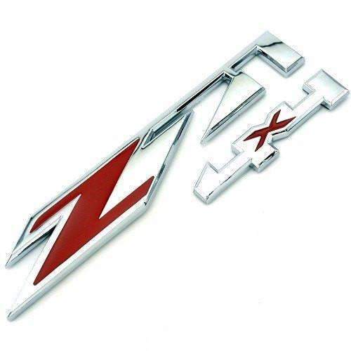 CHEVROLET Silver&Red Z71 4x4 Emblem for Chevrolet Emblems Stickers