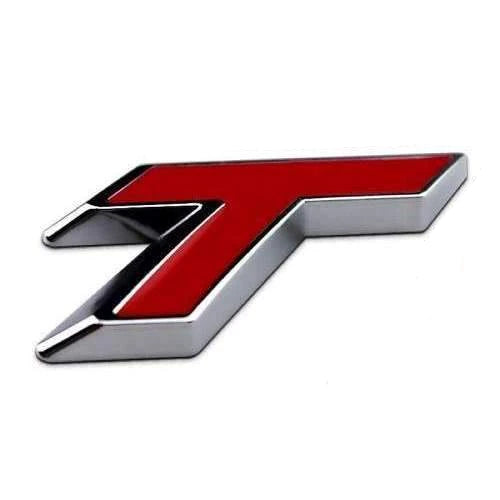 CHEVROLET T Turbo Emblem Chevrolet Cruze Silver/Red/Black Emblems Stickers red