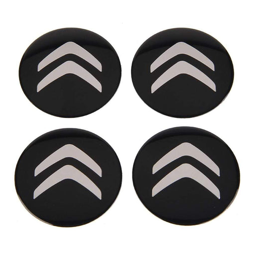 4pcs 56.5mm Citroen Logo Wheel Centre Stickers