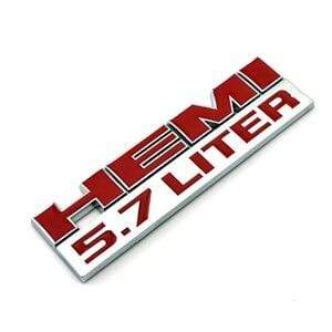 DODGE HEMI 5.7 Liter Emblem for Dodge - Red Emblems Stickers