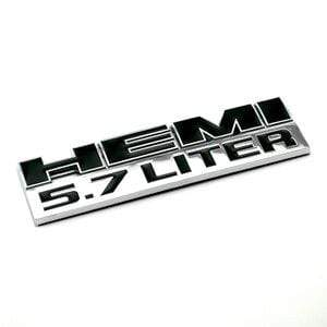 DODGE HEMI 5.7 Liter Emblem for Dodge - Silver&Black Emblems Stickers