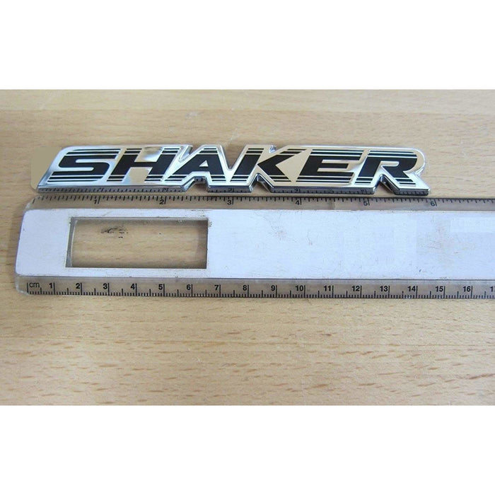 2pcs Shaker Dodge Emblems - Silver