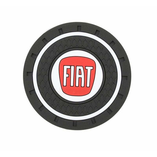 FIAT 2pcs FIAT Logo Auto Cup Holder Mat Cup Holder Mats