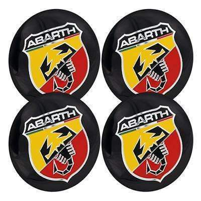 FIAT 4pcs 56.5 mm Fiat Scorpion Abarth Emblem Wheel Center Hub Caps Stickers Wheel Center Caps