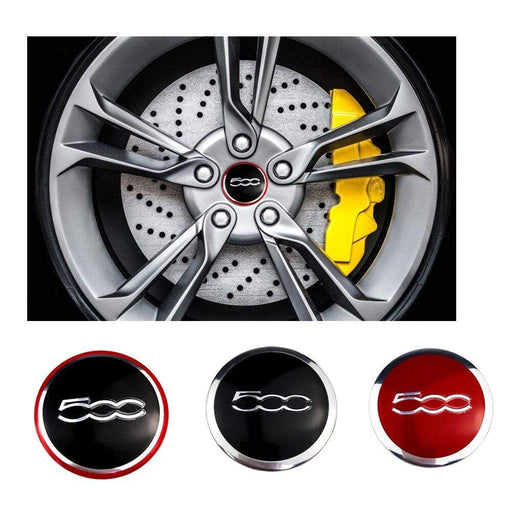 4pcs 56 mm Fiat Wheel Center Hub Stickers