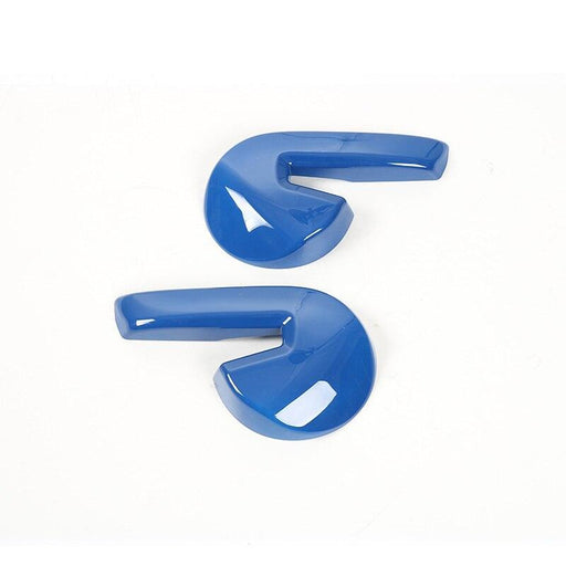 FORD 2pcs Car Seat Backrest Adjust Handle Lever Cover Stickers For Ford Cover Stickers Blue