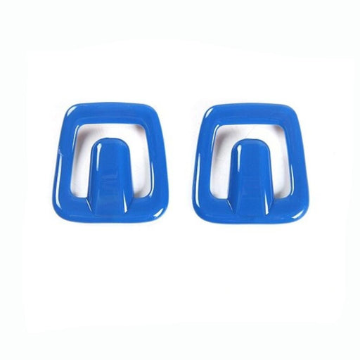 FORD 2pcs Car Seats Pillow Pad Hook Cover Stickers For Ford Cover Stickers Blue