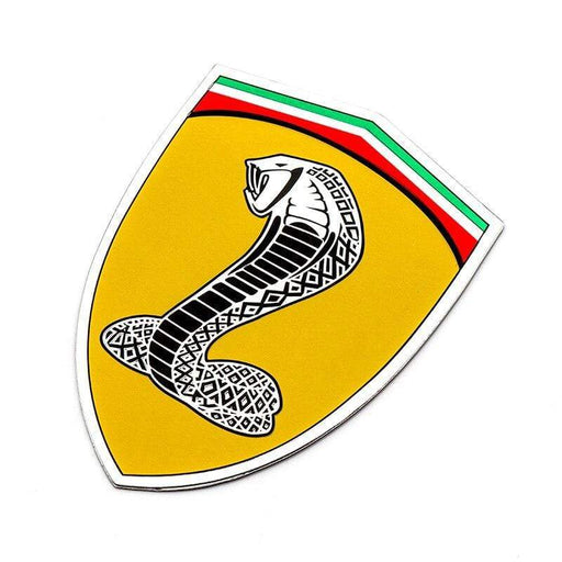 Shelby Shield Emblem für Ford Yellow / Shelby / Left