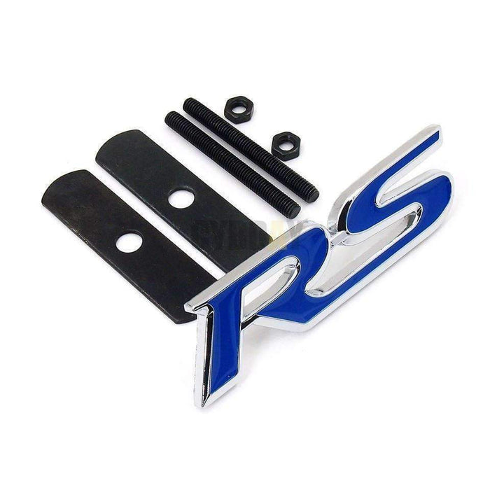 FORD Ford RS Car Emblem Grille Badge for Ford [Blue, Metal, for Grille] Emblems for Grille