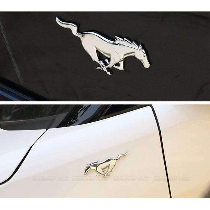 2pcs Horse Emblem Stickers for Ford Mustang