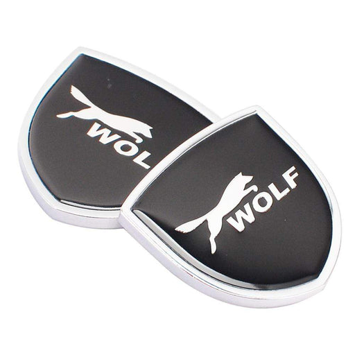 FORD 2pcs Ford Wolf Logo Shield Emblems Emblems Stickers