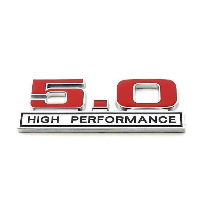5.0 High Performance Emblem for Ford Mustang