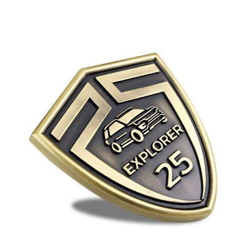 FORD Bronze 25th Anniversary Badge for Ford Explorer Emblems Stickers