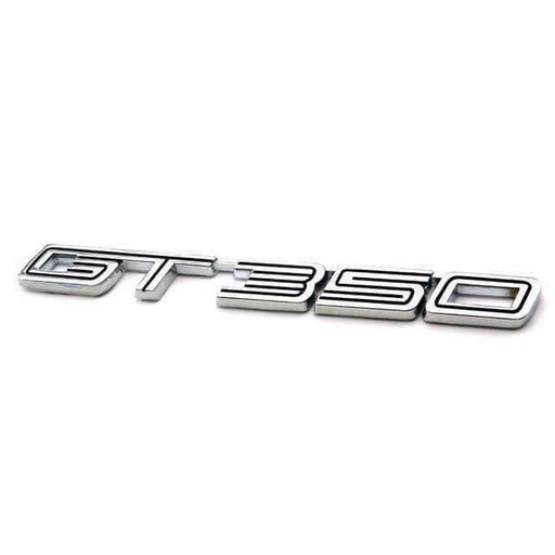 FORD GT350 Emblem for 2015-2016 Ford Mustang Shelby [Silver, Metal, Sticker] Emblems Stickers