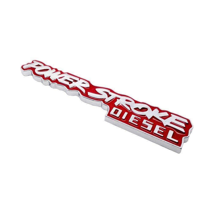 Red Power Stroke Emblem for Ford