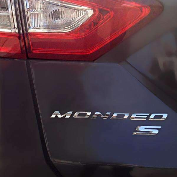 S Trunk Emblem for Ford Mondeo Edge Explorer [Silver, Metal, Sticker]
