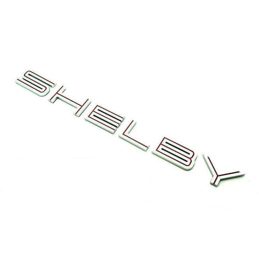 FORD Shelby Emblem Rear Trunk Badge for Ford Mustang [Red, Metal, Sticker] Emblems Stickers