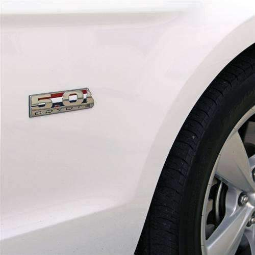 Silver 5.0 COYOTE Emblem for Ford Mustang