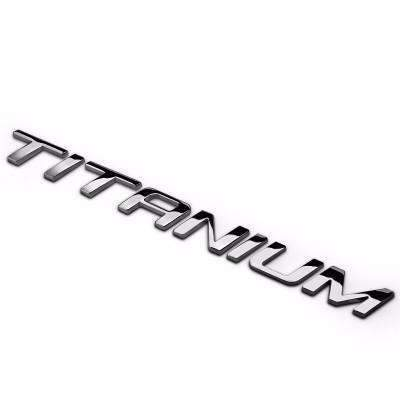Titanium Emblem for Ford Silver