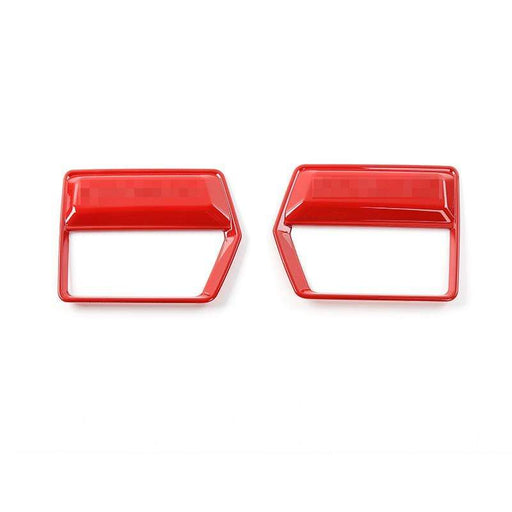 FORD 2pcs Car Air Conditioning Outlet Vents Cover Trim Stickers For Ford Cover Stickers Red