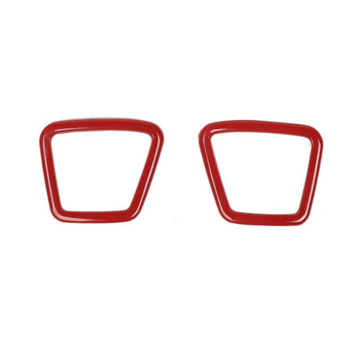 FORD 2pcs Car Auto Door A Pillar Speaker Cover Stickers for Ford Cover Stickers Red