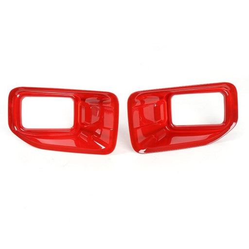 FORD 2pcs Car Front Fog Light Lamp Cover Trim Stickers For Ford Cover Stickers Red