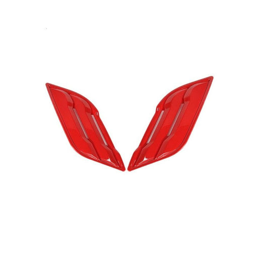 FORD 2pcs Car Front Side Fender Vents Air Outlet Cover Stickers for Ford Cover Stickers Red