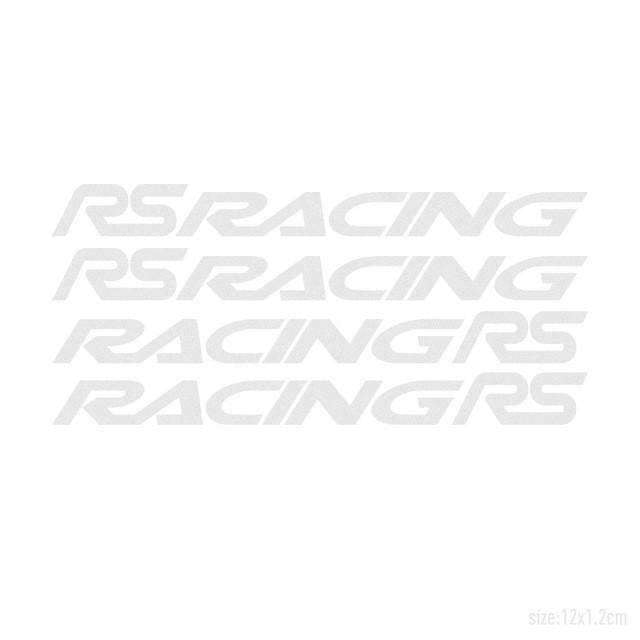 FORD 4pcs RS RACING Door Handle Stickers for Ford Decals Silver