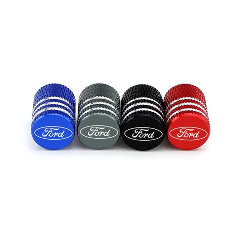 4pcs Ford Logo Tire Valve Caps