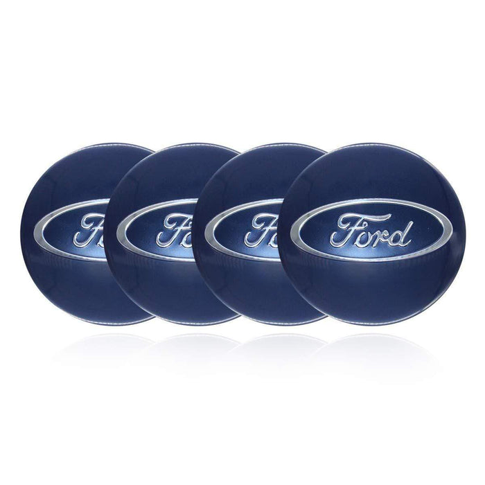 4pcs 56.5mm Ford Logo Wheel Center Sticker for Ford - Blue