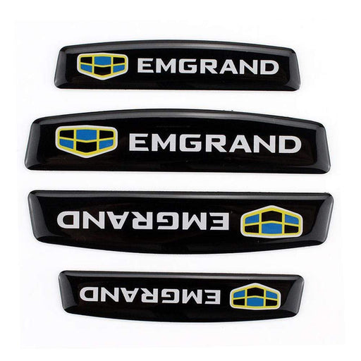 GEELY 4pcs Geely Emgrand Logo Door Edge Protection Stickers Emblems Stickers