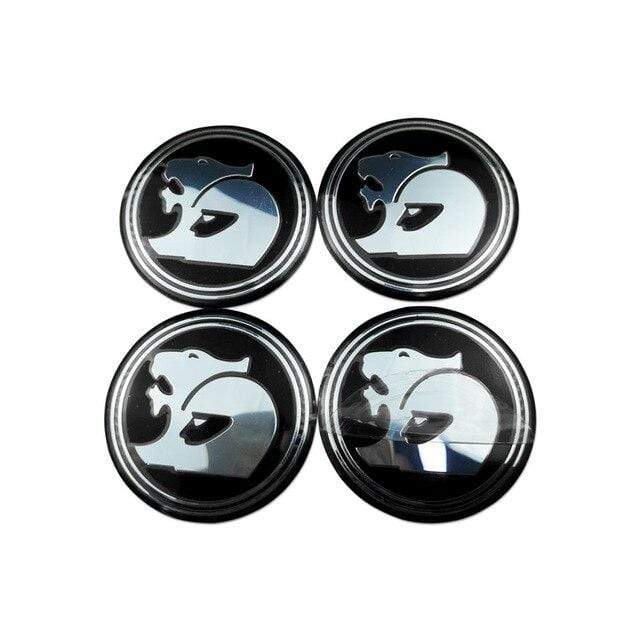 HOLDEN 4pcs 56mm Wheel Center Stickers for Holden Emblem Stickers Black