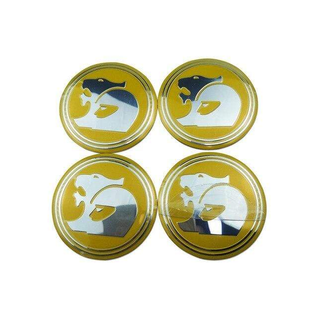 HOLDEN 4pcs 56mm Wheel Center Stickers for Holden Emblem Stickers Yellow