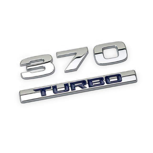 HONDA Honda 370 Blue/ Red Emblem Sticker Emblems Stickers 370 blue turbo