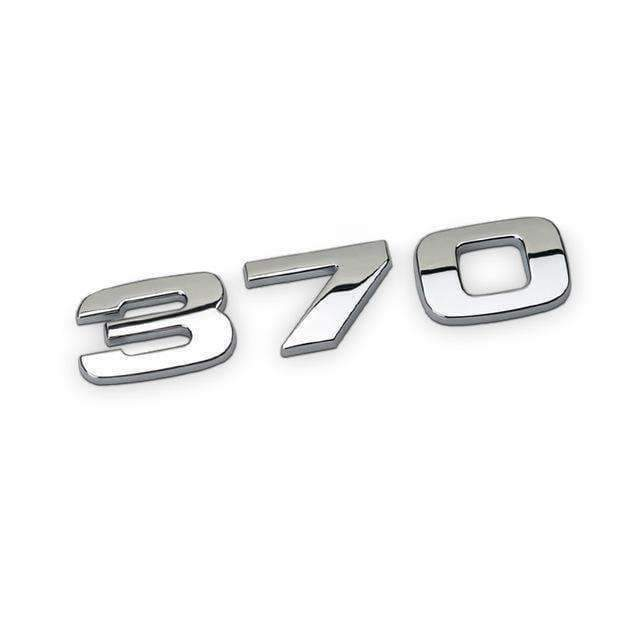 HONDA Honda 370 Blue/ Red Emblem Sticker Emblems Stickers 370 for Honda