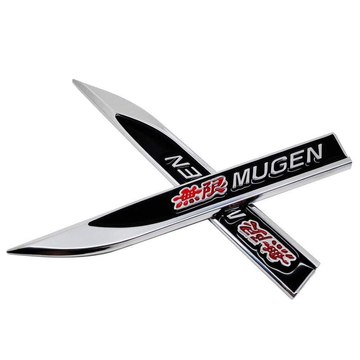 2pcs Car Honda Mugen Blade Fender Emblem Stickers