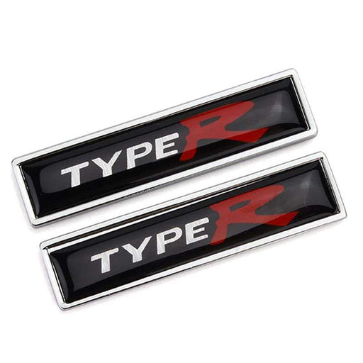 2pcs Type R Logo Emblems Fender Stickers for Honda