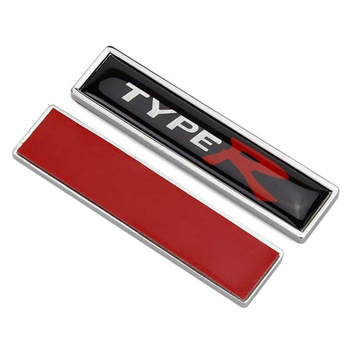 HONDA 2pcs Type R Logo Emblems Fender Stickers for Honda Emblems Stickers