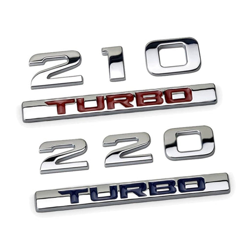 TURBO 210/220 Emblem Sticker for Honda