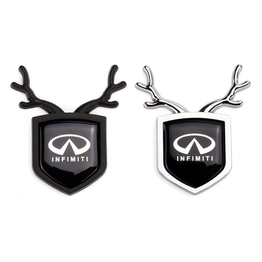 INFINITI 2pcs Infiniti Logo Shield Antler Emblems Emblems Stickers