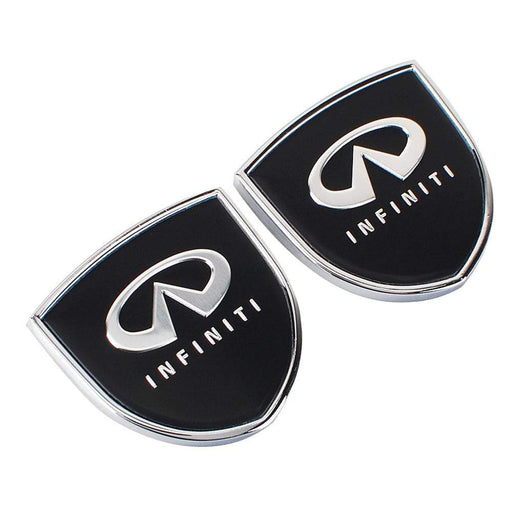 2pcs Infiniti Logo Shield Emblems
