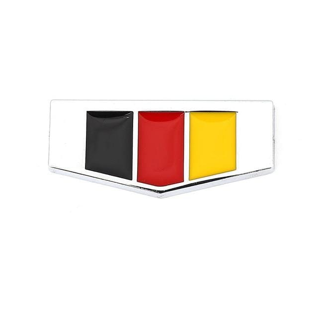 Italy Germany France England Flag Emblem Sticker Silver / Germany Flag