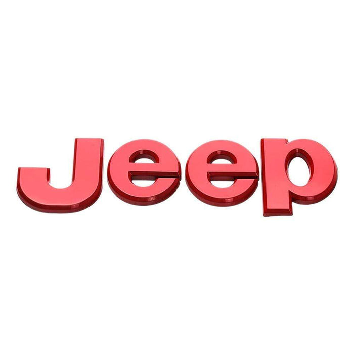 JEEP Jeep Red Logo Emblem Sticker Emblem Stickers