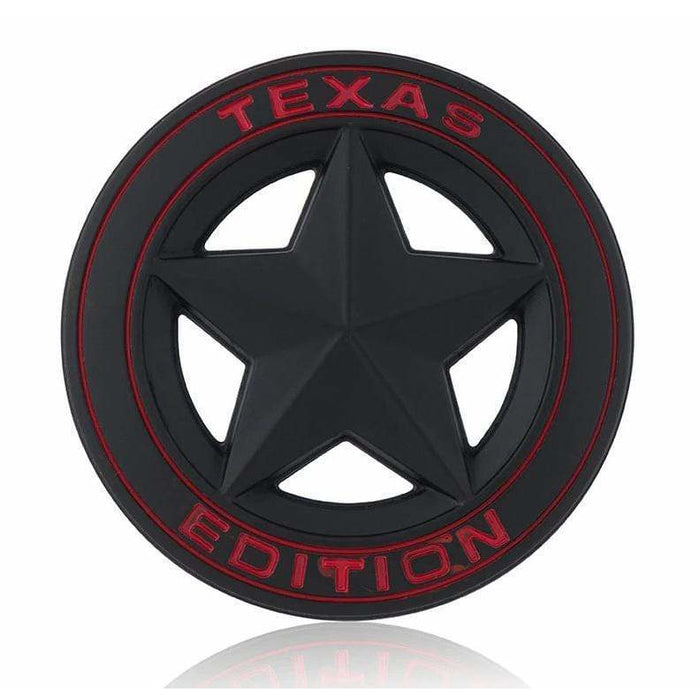 JEEP TEXAS Edition Black Emblem Sticker for Jeep Emblem Stickers